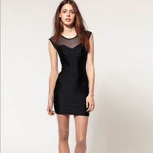 American Apparel Nylon Mesh Black Dress